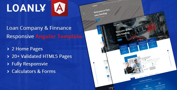 Download Loanly   Banking Angular Template