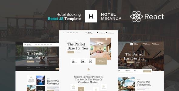 Download Miranda - Hotel Booking React Template