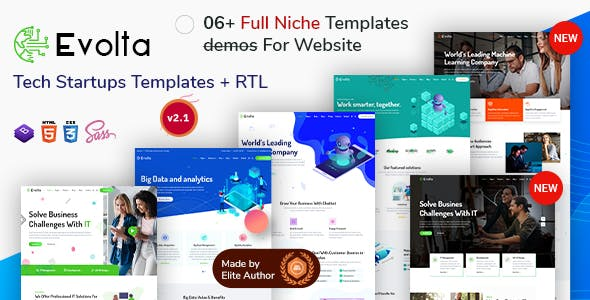 Evolta - Tech & Business Startups HTML Templates