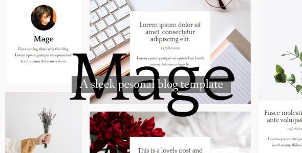 Mage - HTML Blog template - Personal Site Templates