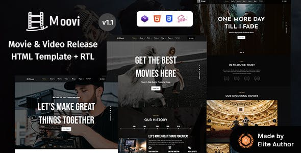 Download Moovi - Video Production & Release HTML Template