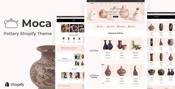 Moca - Ceramic Pots, Handmade Artists Shopify Theme