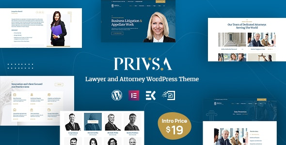 Privsa - Lawyer and Attorney WordPress Theme - Business Corporate