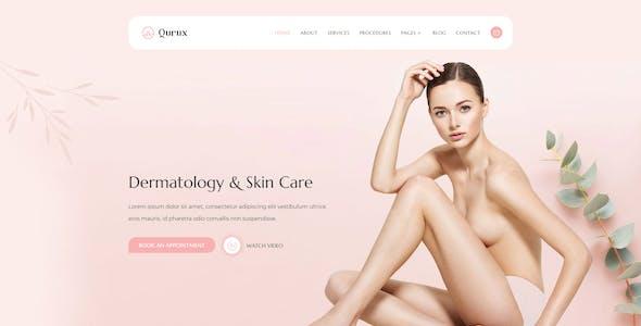 Qurux - Dermatology & Skin Care Elementor Template Kit