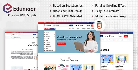 Edumoon - Education HTML Template - Retail Site Templates