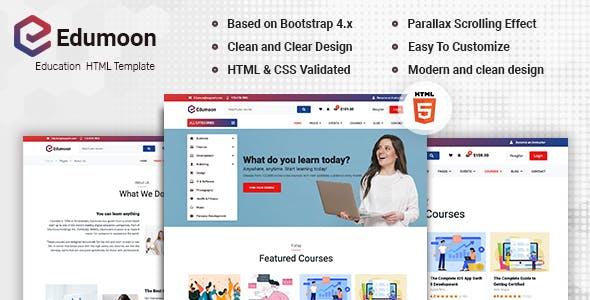 Download Edumoon - Education HTML Template