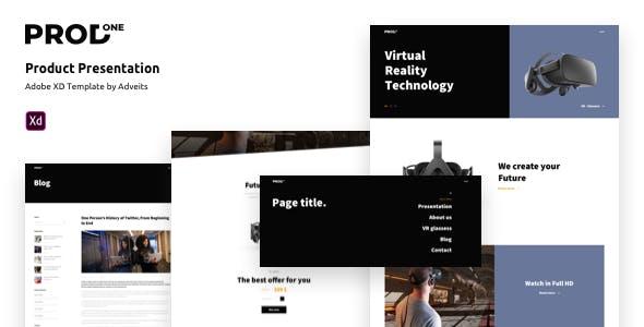 Prodone - Product Presentation Adobe XD Template