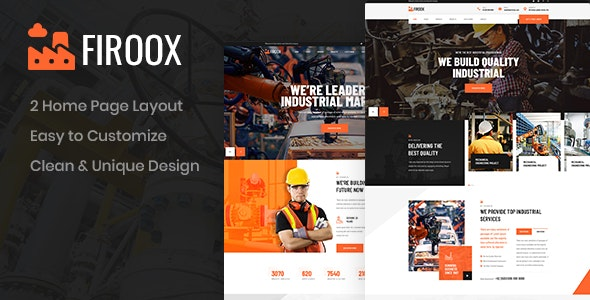 Firoox - Industrial PSD Template - Business Corporate