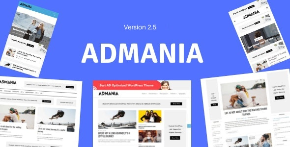 Admania - Adsense WordPress Theme With Gutenberg Compatibility - Blog / Magazine WordPress