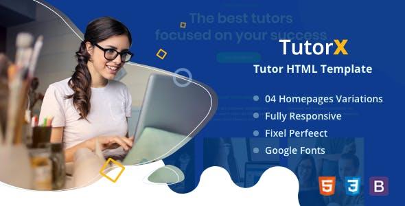 TutorX | Tutoring HTML Template