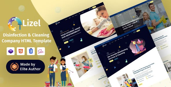 Download Lizel - Disinfection & Cleaning Company HTML Template