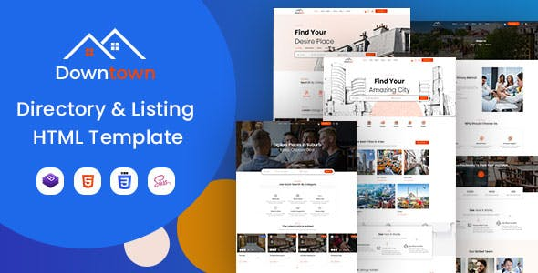 Download Downtown - Directory & Listing HTML Template