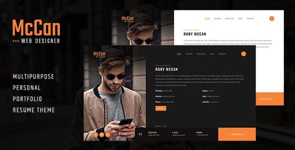 McCan - Portfolio WordPress Theme - Portfolio Creative