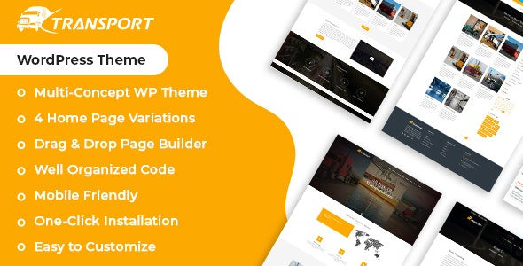 Transport & Logistics WordPress Theme - Business Corporate