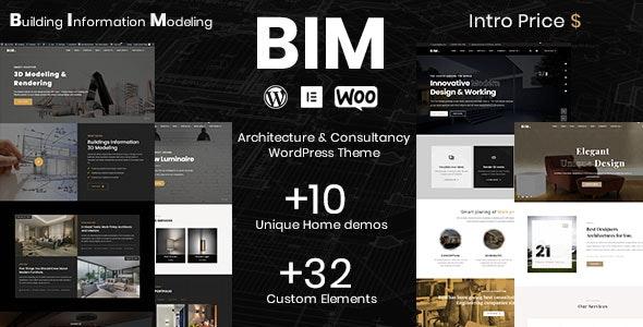 BIM - Architecture Consultancy WordPress theme - Corporate WordPress
