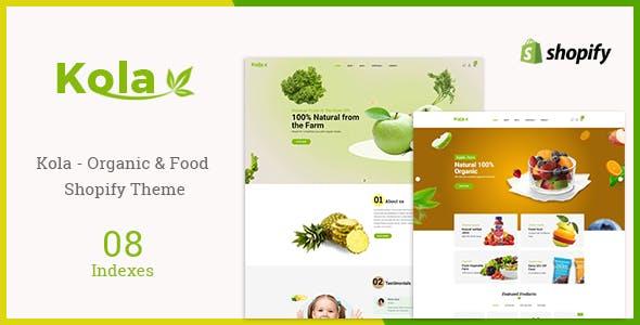 Kola - Organic & Food Shopify Themes