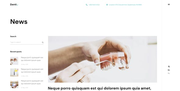 Denti - Landing page Figma Template