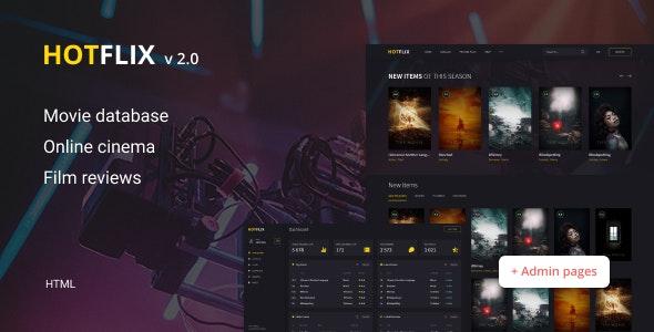 HotFlix – Online Movies, TV Shows & Cinema HTML Template - Film & TV Entertainment