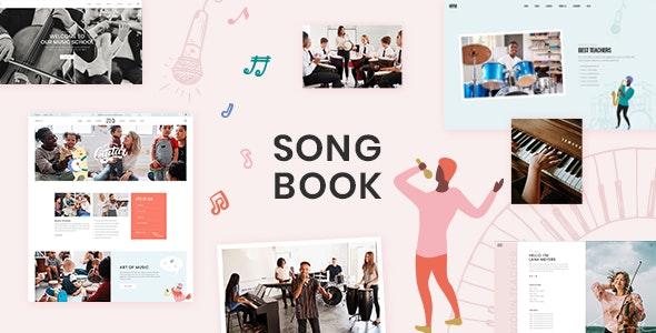 SongBook - Music School Theme - Education WordPress