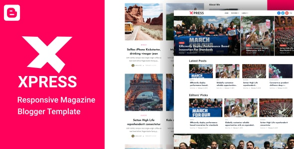 XPress - Lifestyle Blog & Magazine Blogger Template - Blogger Blogging