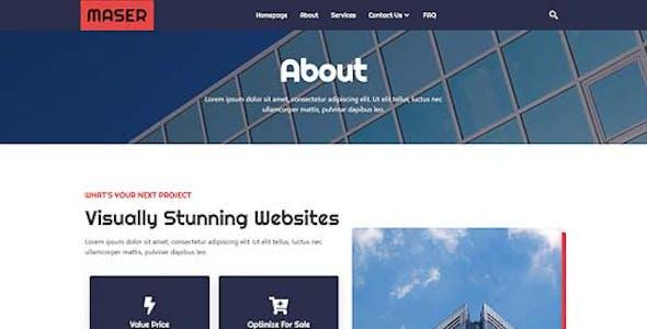 Maser - Web Design Agency Elementor Template Kit