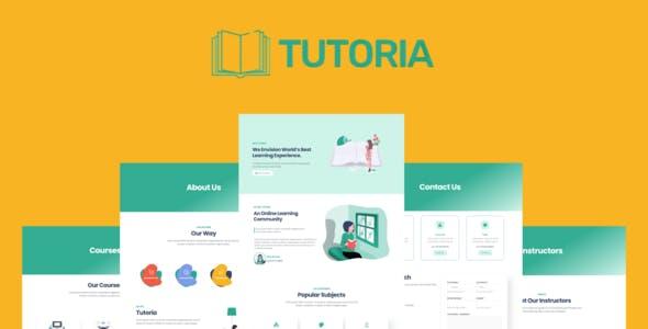 Tutoria - Education & Online Courses Elementor Template Kit