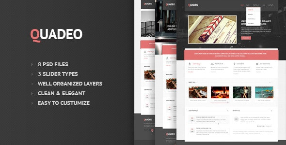 Quadeo-Clean PSD Template - Corporate PSD Templates