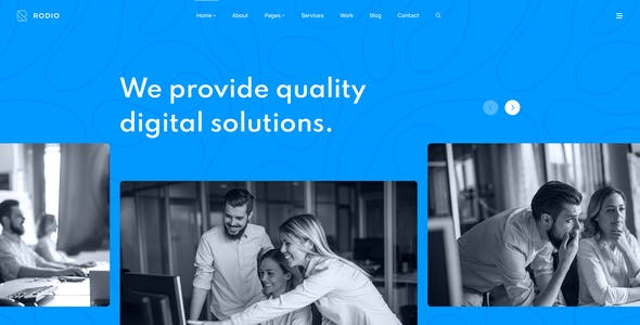 Rodio – Agency & Studio PSD Template