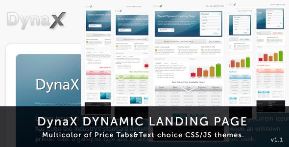 DynaX - Landing Page