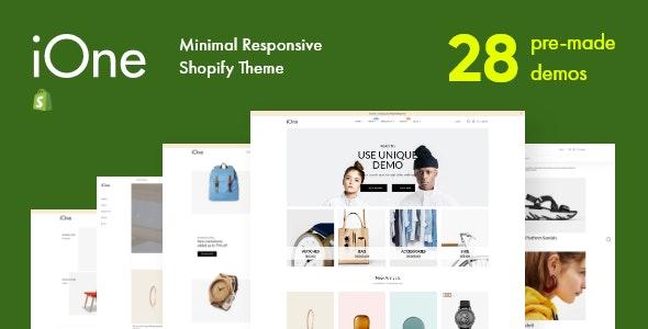 iOne - Drag & Drop Minimal Responsive Shopify Theme - Fashion Shopify