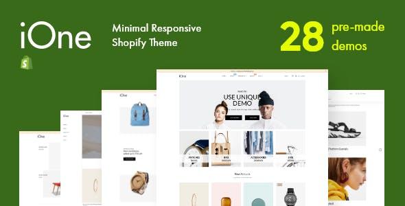 iOne - Drag & Drop Minimal Responsive Shopify Theme