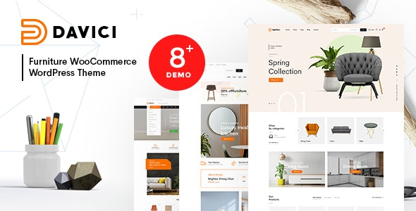 Davici – Furniture WooCommerce WordPress Theme - WooCommerce eCommerce