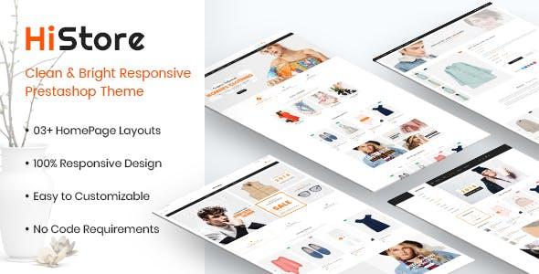 HiStore - Clean and Bright Responsive PrestaShop 1.7 Theme