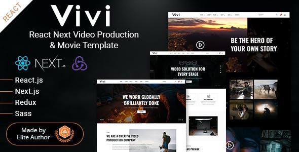 Download Vivi - React Next Video Production & Movie Template