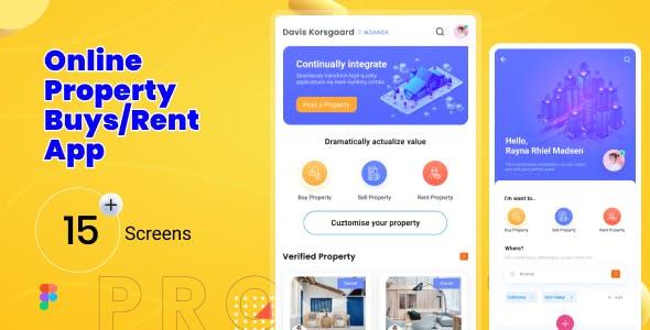 HomeFind   Online Property Mobile App Figma Template