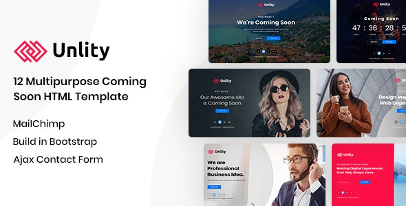 Unlity | Multipurpose Coming Soon HTML Template - Under Construction Specialty Pages