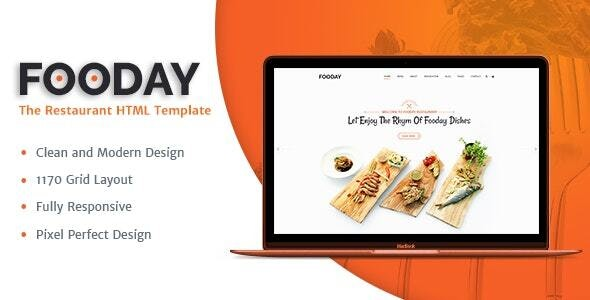 Fooday -  Restaurant HTML Template   Order Online & Reservations - Restaurants & Cafes Entertainment