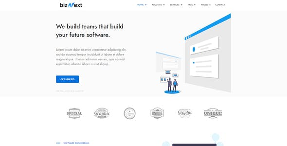 bizNext - Corporate Business Template Kit