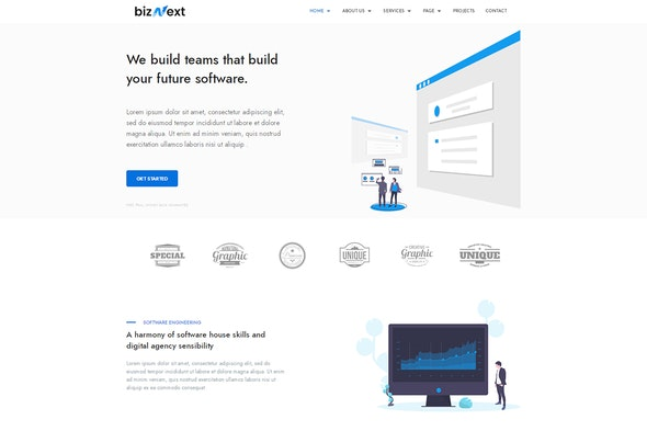 bizNext - Corporate Business Template Kit - Business & Services Elementor