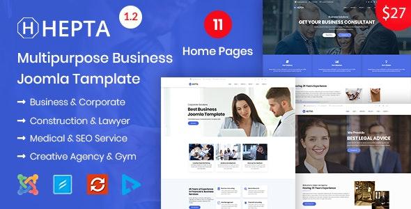 Hepta - Multipurpose Business Joomla Template - Business Corporate