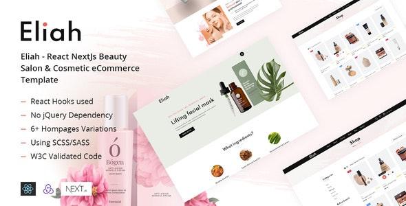 Eliah - React NextJs Beauty Salon & Cosmetic eCommerce Template - Health & Beauty Retail