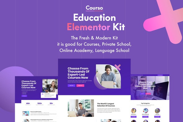 Courso - Online University & Courses Elementor Template Kit - Education Elementor