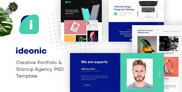 Ideonic - Creative Portfolio & Startup Agency PSD Template - Business Corporate