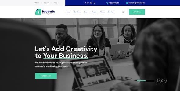 Ideonic - Creative Portfolio & Startup Agency PSD Template