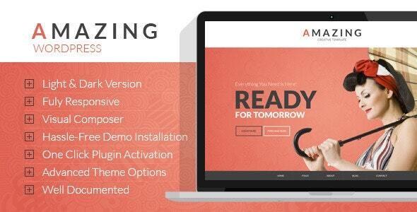 Amazing  Multi-Purpose WordPress Theme - Portfolio Creative