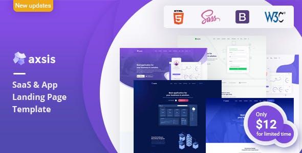 axsis - SaaS & App Landing Page Template