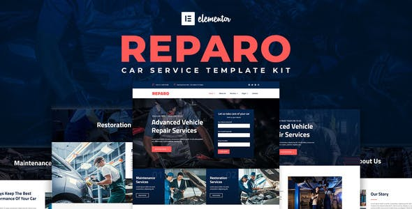 Reparo - Car Service Elementor Template Kit