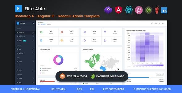 Elite Able - Bootstrap 4, Angular 10 & Reactjs Redux Admin Template - Admin Templates Site Templates