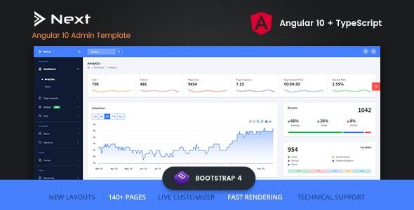 Next - Angular 10 Admin Template - Admin Templates Site Templates