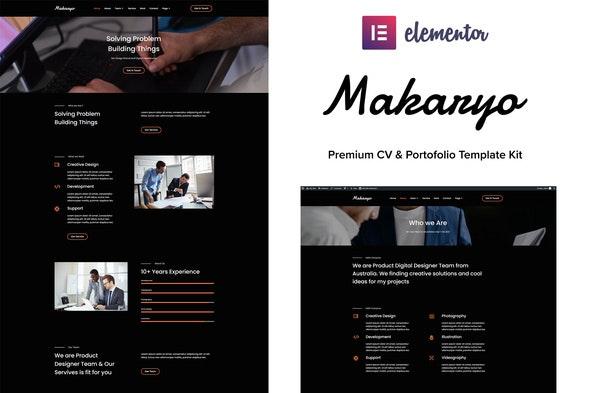 Makaryo - CV & Portofolio Elementor Kit - Personal & CV Elementor